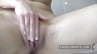 Busty Angela White and Anikka Albrite Lesbian Sex