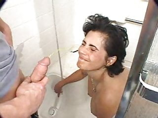 Urinal pig slut porn Slut urinated on in shower