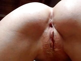 Discharge from dick when going pop - Tight pussy squeezes cum from dick