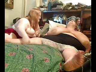 Obese naked Horny fat obese lesbians playing with each other