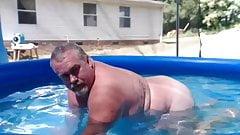 Naked Pool Dad