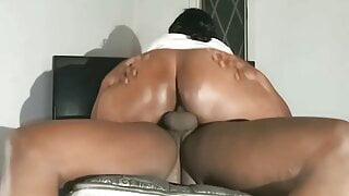 BBW Ebony Hard Riding Creampie 3