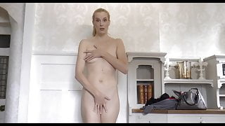 Forced to strip naked by airport security humiliated blonde
