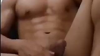 asian young fit hunk shows off for webcam (54'')