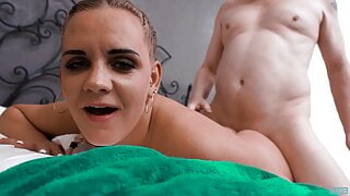 Fuck'N'Suck with Nina Heels (aka Lucette Nice) taking a load
