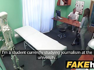 Hot sexy reporter having affair Fake hospital sexy reporter gets to the point with blowjob