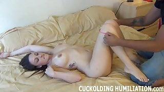 His big black cock makes me cum so hard
