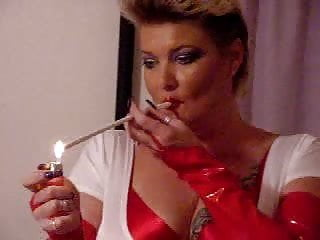 Girl slut smoking Slut smoking 300mm cigarette