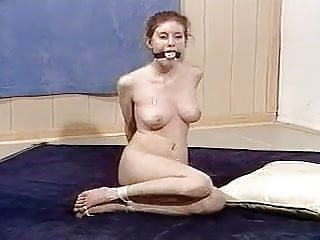Bound gagged and fucked - Naked girl bound, gagged and toetied
