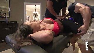 Nikki Bella Stretching for Cena