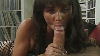 Sexy brunette Shaena Steele POV blowjob