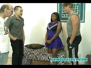 Free black ebony hardcore Sweaty black ebony teen cheerleader interracial gangbang