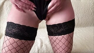 Slutty wife Ardentina playing with her tight pussy