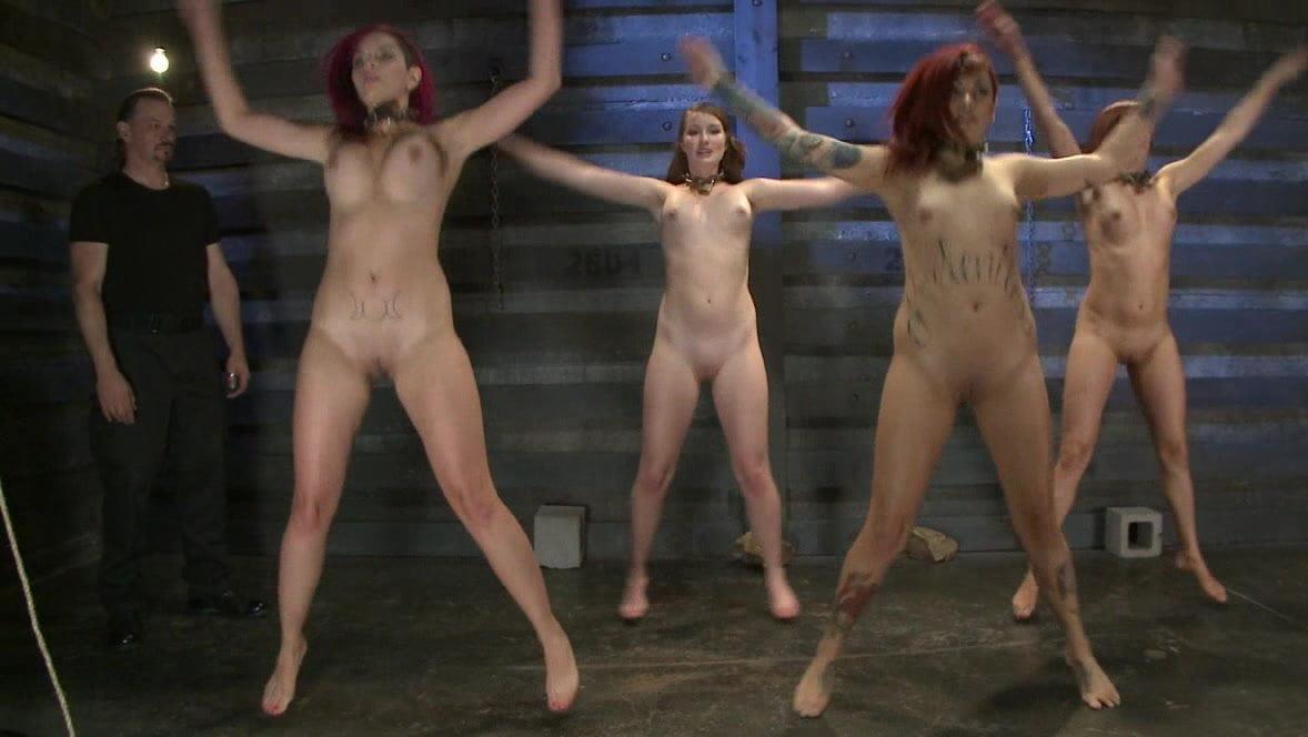 Nude jumping jacks