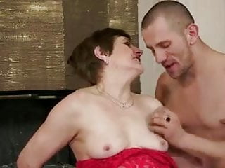 Flabby breasts - Mom with flabby body, saggy tits, hairy cunt guy