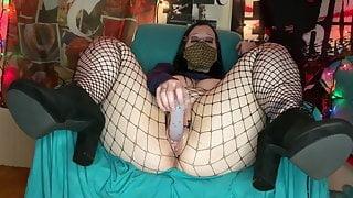 Slut GothBunny Fucking Her Tight Cunt Silly