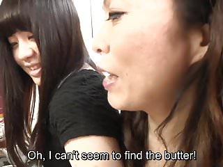 Mother-in-law daughter-in-law sex Risky jav covert sex with mother in law in kitchen subtitled