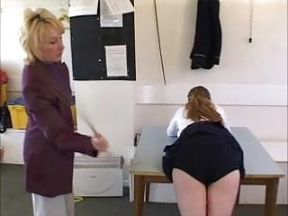 Boobs navy Schoolgirl caned on her navy blue knickers