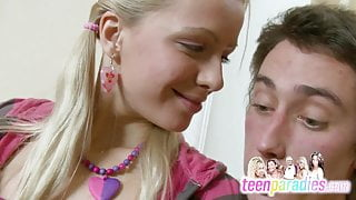 Deluxe skinny teen trouble fuck with close holes 69