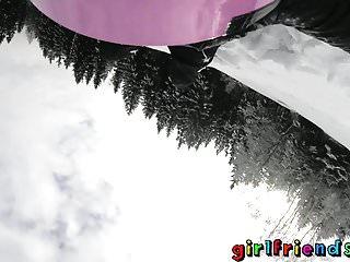 Burton snowboard vintage - Girlfriends snowboarding babes licking sucking and fingering