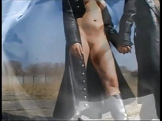 Vintage stripper full length video Compilation of ladies in full length leather coats