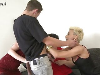Two boy sex Granny and two mature moms sharing young boys cock
