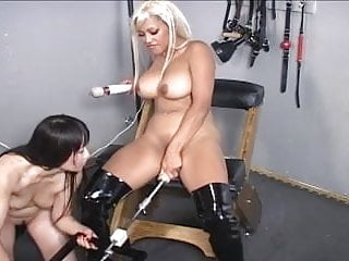 Girl on a fuck machine 2 asian girls playing with a fuck-machine