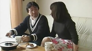 Japanese wife husband fucks girl - uncensored (MrNo)