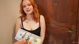 A sexy neighbor came to borrow money and was fucked hard