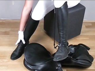 Whip in pussy Cock crush and whip in riding boots.