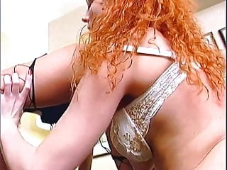 Excelling in the realm of sex - Excellent redhead on fire fisted dp style