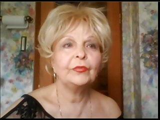 Elderly lesbian sex Elegant elderly lady shows herself on skype