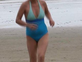 MY WIFE ON THE BEACH (PART 1) FUCKING, CUMSHOTS, MASTURBATION