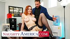 Naughty America - Lilian Stone drains her boss' balls