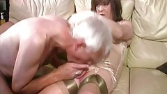 Daddy and nasty transvestites GangBanG only in England