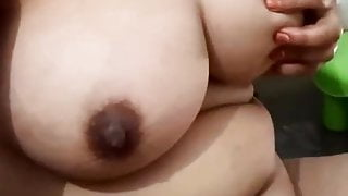 Sudha Aunty in bath on cam with me