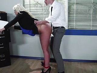 Julie Cash On The Cock While On The Clock
