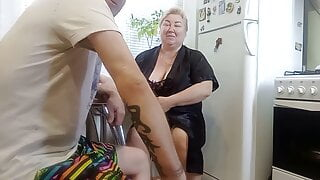 I finished on my feet after joint masturbation