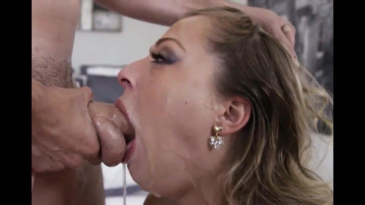 Hannah Hilton Slathers Up Huge Bone Taking It Balls Deep In Her Throat