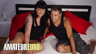 AMATEUREURO - Old German Couple Have Hardcore Sex On Camera