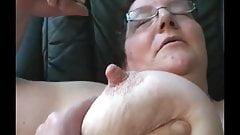 Cum on granny homemade