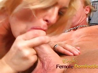Very young happy nudes - Horny slave makes his mature blonde mistress a very happy