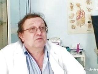 Gyno medical examination adult Blonde klara getting pussy gyno examined by old doctor