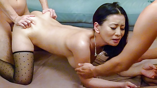 Asian step mom lands a powerful cock up her furry snatch