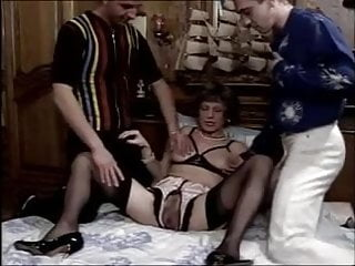 Shemale fisting men Rich granny fucked and fisted by two men