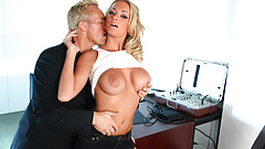 Bombshell MILF Paige Ashley Seduces Officer to Fuck her