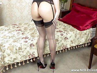 Girl strips off clthes Petite blonde sexpot strips off lingerie toys sweet pussy