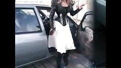 Lacie doing a corset ballet boots walk