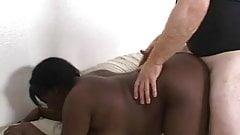 young ebony Yolanda with white dick