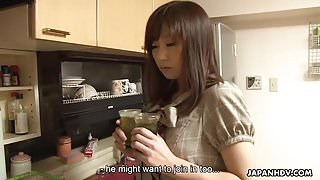 Slutty Japanese sister receives a messy creampie after the t